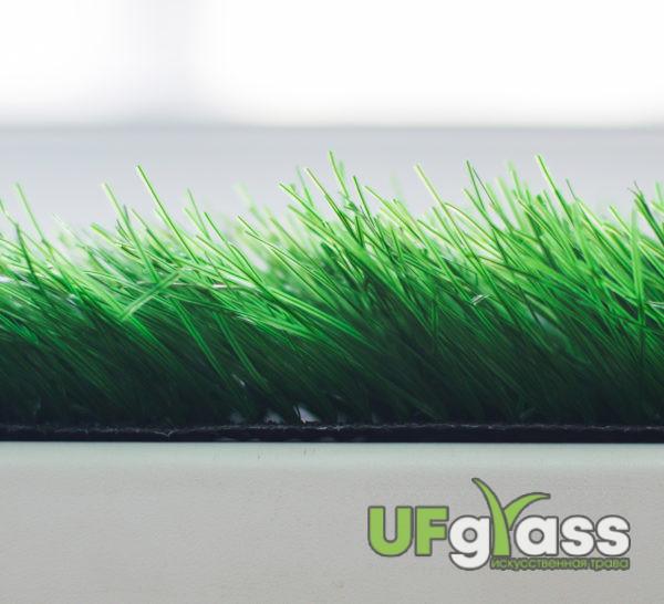 Искусственная трава для футбола 60 мм (Темно-зеленая) 12000 стежков\м2