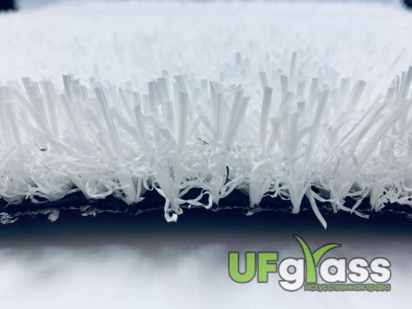 Незасыпная искусственная трава для мини-футбола 30 мм UF Grass Spine Pro Белая