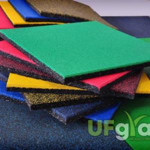 Резиновая плитка для детской площадки 500х500х40 мм