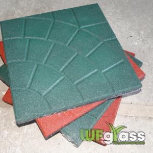 Резиновая плитка для детской площадки «Паутинка» 350х350х30 мм